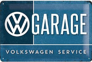 VW Volkswagen Garage Service embossed metal sign 300mm x 200mm   (na)